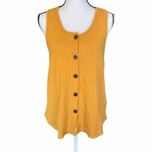 Anthropologie W5 Yellow Ribbed Tank Top. Size med
